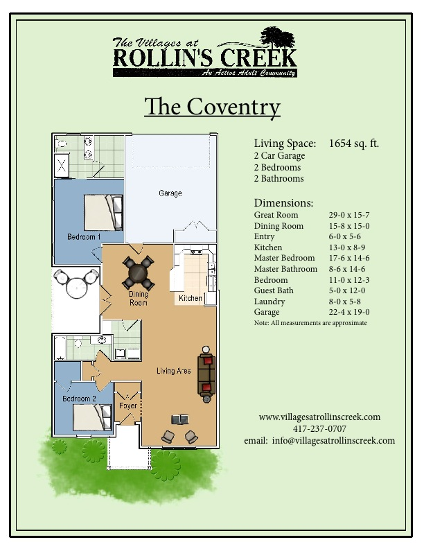 The coventry the villages at rollin 39 s creek for 15 x 17 living room